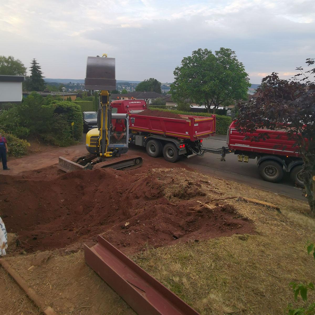 Helfri Baugestellschaft Frankenberg Erdarbeiten
